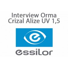 Очкова офісна лінза Essilor Interview Orma Crizal Alize UV 1,5