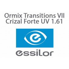 Очкова лінза Essilor Ormix Transitions VII Crizal Forte UV 1.61